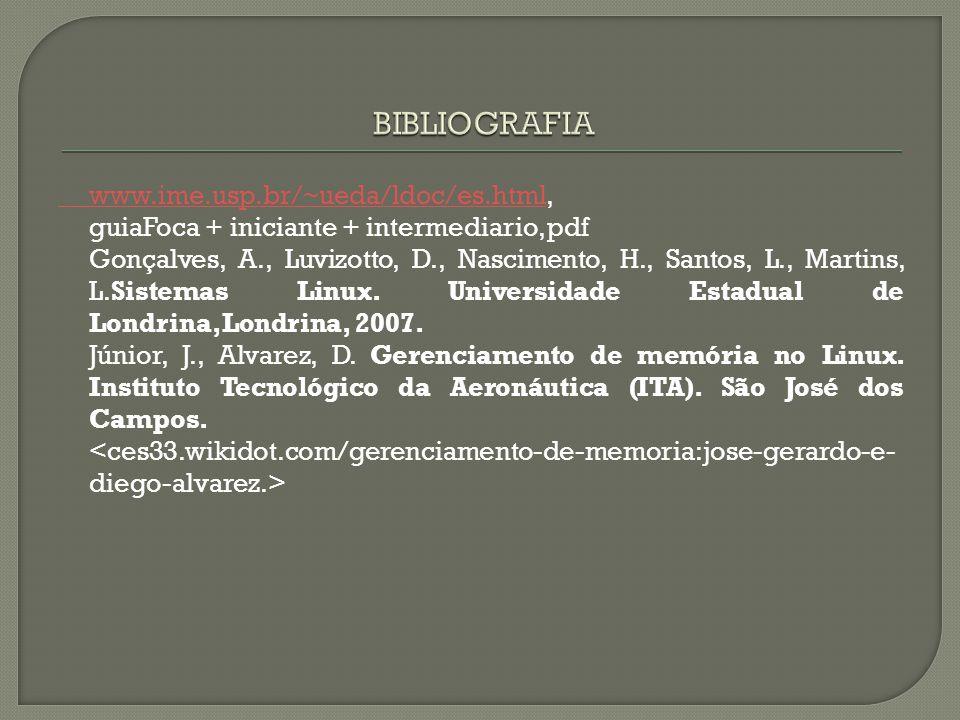 www.ime.usp.br/~ueda/ldoc/es.htmlwww.ime.usp.br/~ueda/ldoc/es.html, guiaFoca + iniciante + intermediario, pdf Gonçalves, A., Luvizotto, D., Nascimento