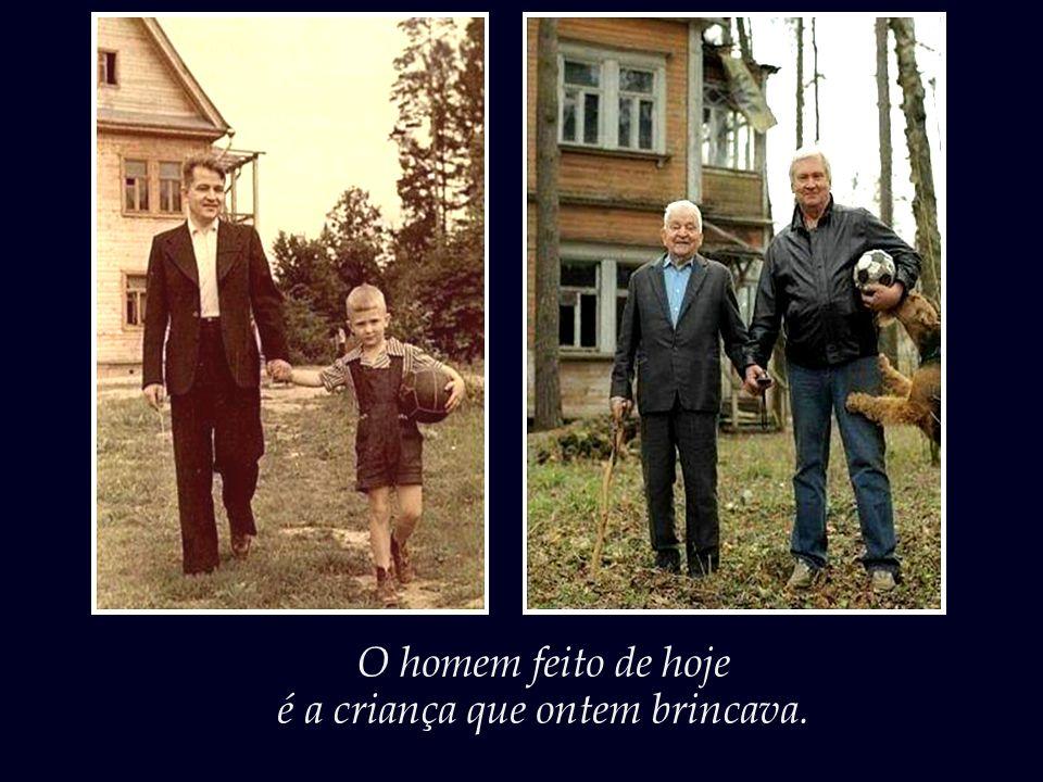 Pequena é a distância que separa pais e filhos, avós e netos.
