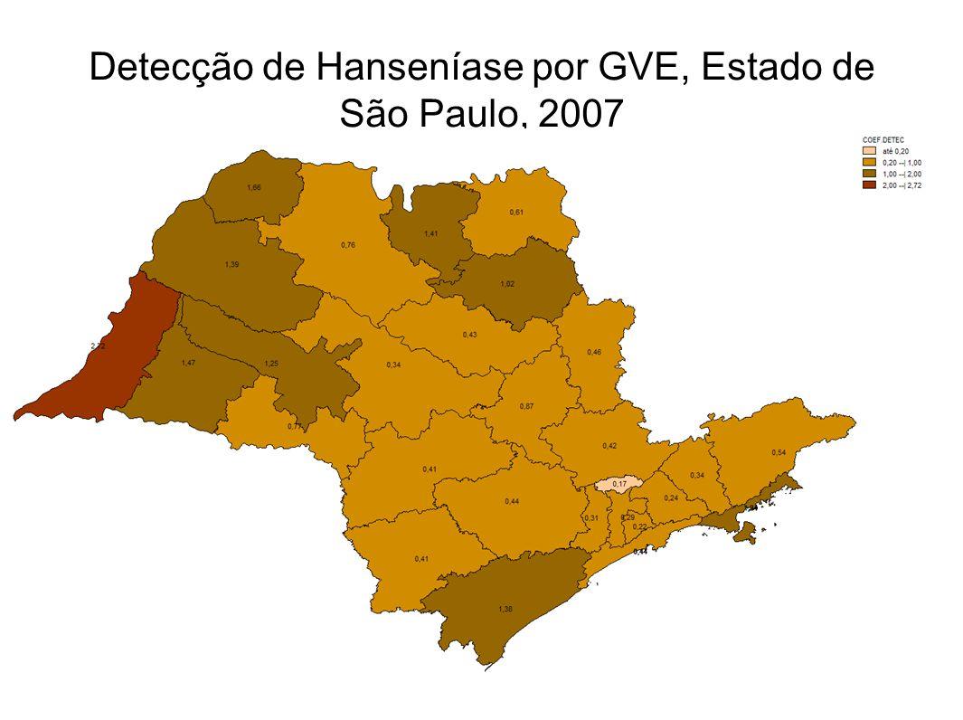 Detecção de Hanseníase por GVE, Estado de São Paulo, 2007