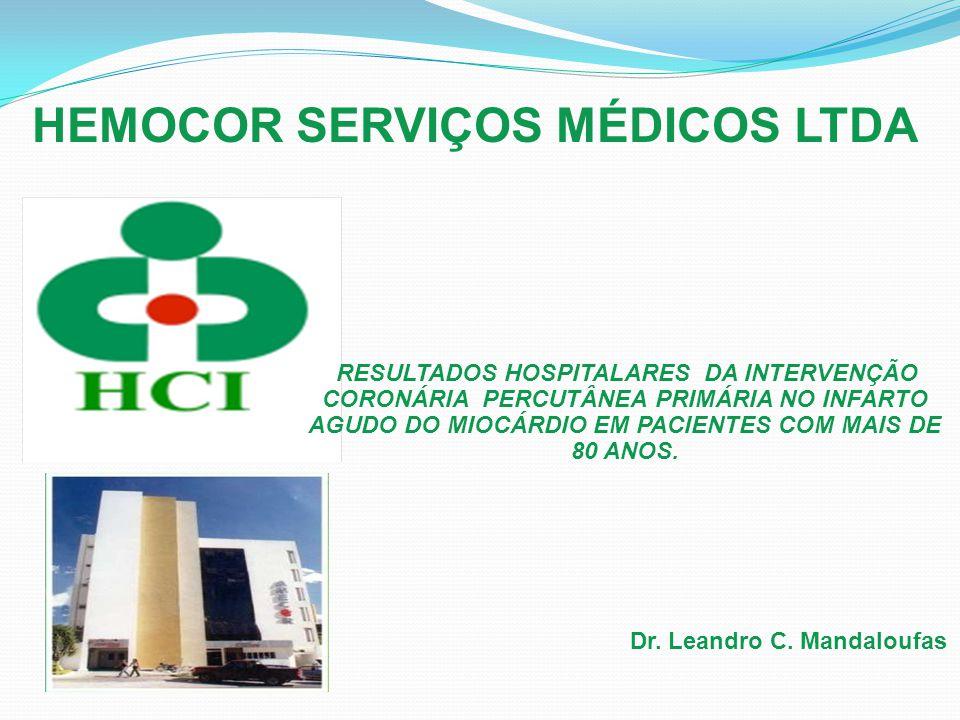 HEMOCOR SERVIÇOS MÉDICOS LTDA RESULTADOS HOSPITALARES DA INTERVENÇÃO CORONÁRIA PERCUTÂNEA PRIMÁRIA NO INFARTO AGUDO DO MIOCÁRDIO EM PACIENTES COM MAIS