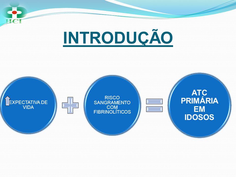 INTRODUÇÃO EXPECTATIVA DE VIDA RISCO SANGRAMENTO COM FIBRINOLÍTICOS ATC PRIMÁRIA EM IDOSOS