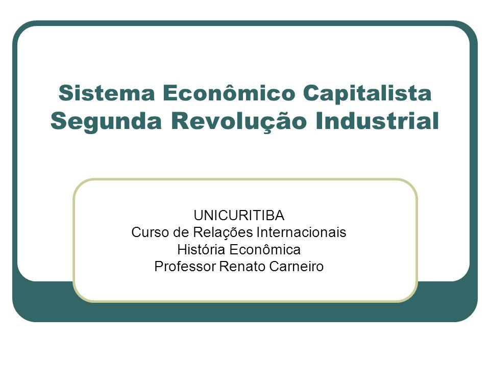 Sistema Econômico Capitalista Segunda Revolução Industrial UNICURITIBA Curso de Relações Internacionais História Econômica Professor Renato Carneiro