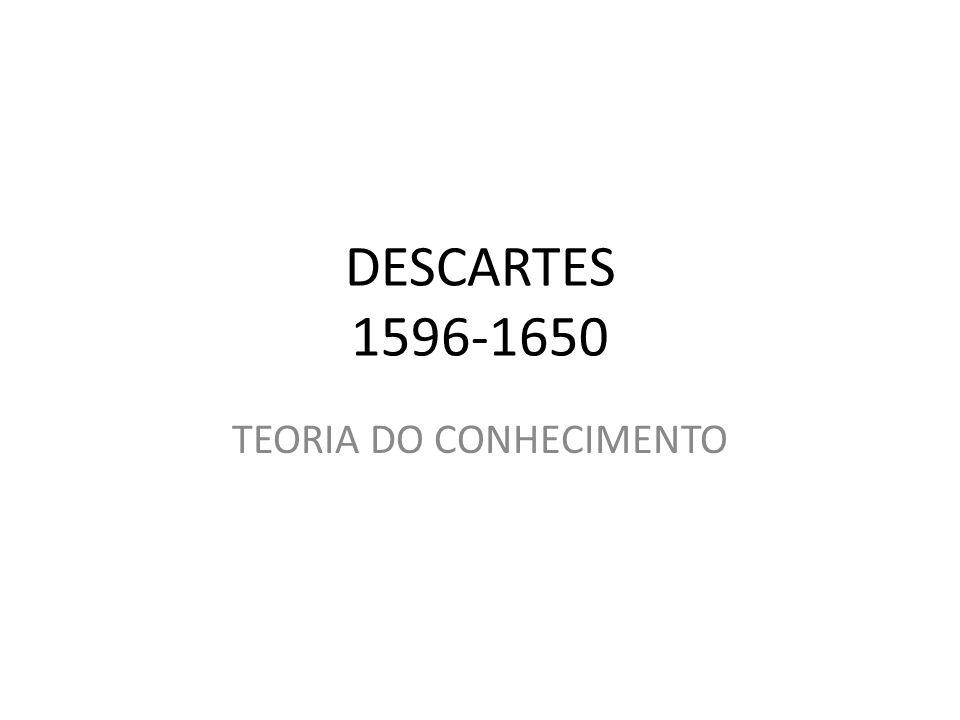 DESCARTES 1596-1650 TEORIA DO CONHECIMENTO
