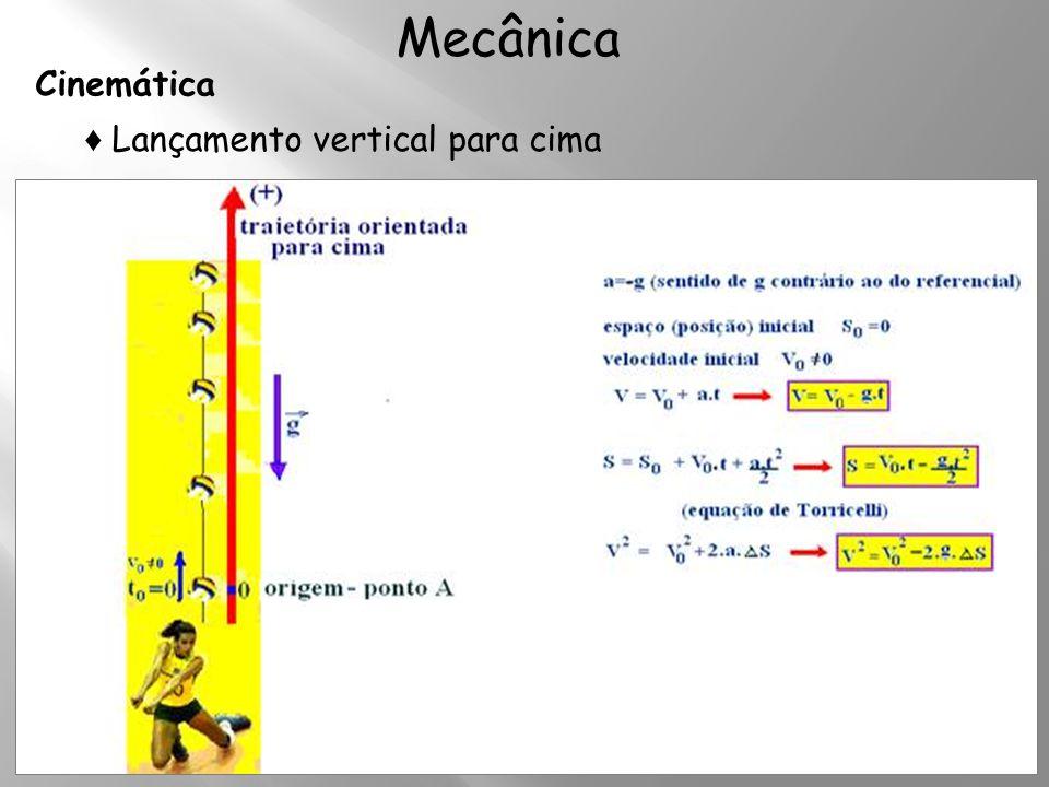 Cinemática Mecânica ♦ Lançamento vertical para cima