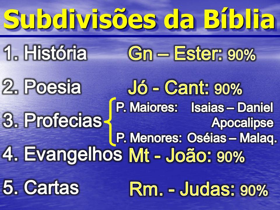 Subdivisões da Bíblia
