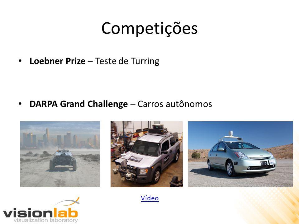 Competições • Loebner Prize – Teste de Turring • DARPA Grand Challenge – Carros autônomos Vídeo