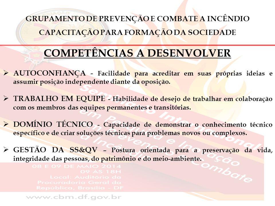 GRUPAMENTO DE PREVENÇÃO E COMBATE A INCÊNDIO OBJETIVO DA EDUCAÇÃO DA COMUNIDADE PRINCIPAIS SERVIÇOS:  PREVENÇÃO E EXTINÇÃO DE INCÊNDIOS;  BUSCA E SALVAMENTO DE PESSOAS;  ATENDIMENTO PRÉ-HOSPITALAR;  SALVAMENTO AQUÁTICO E MERGULHO DE RESGATE;  SERVIÇO DE RESGATE AÉREO;  EDUCAÇÃO DA COMUNIDADE.