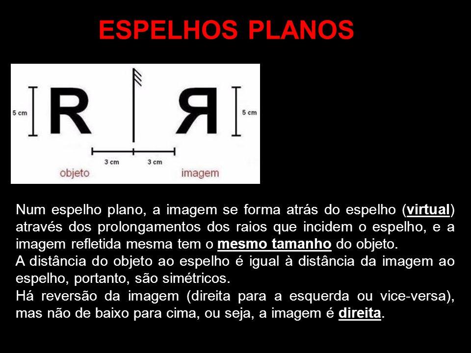 """TIPOS DE IMAGEM (EM ESPELHOS) Imagem Real: Imagem formada pelos raios onde realmente passam os raios refletidos, de """"verdade""""; Imagem Virtual: Imagem"""