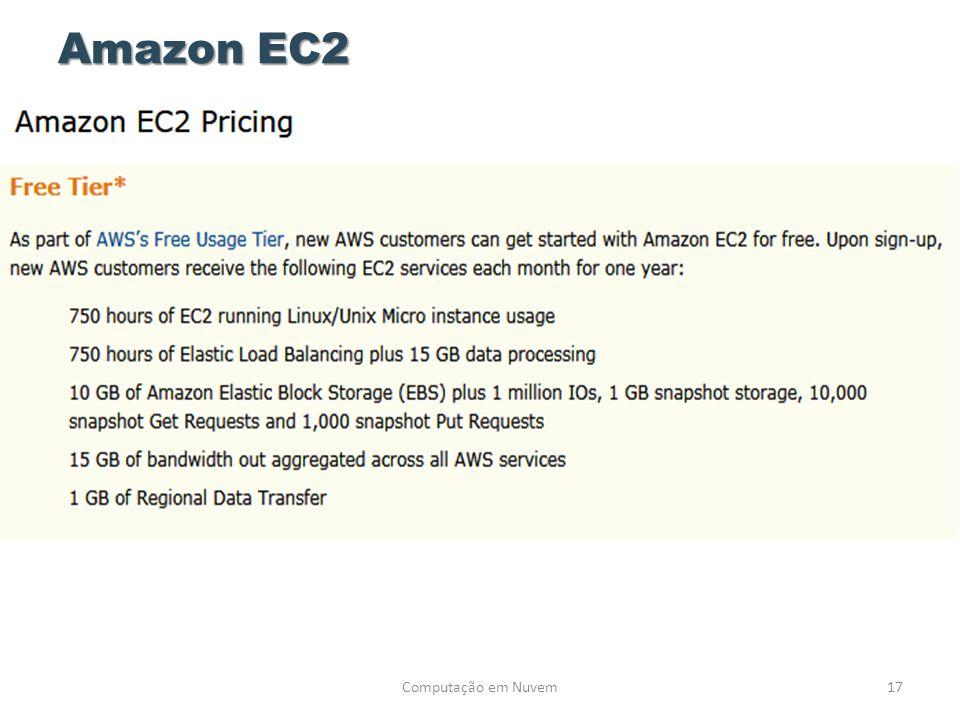 Amazon EC2 Computação em Nuvem17