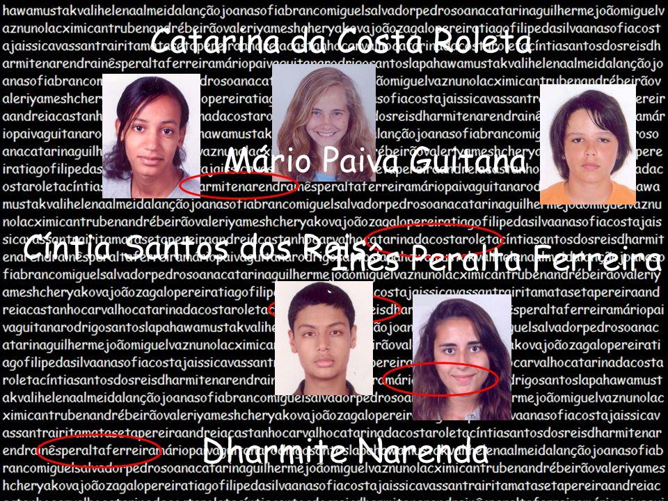 Catarina da Costa Roleta Cíntia Santos dos Reis Dharmite Narenda Inês Peralta Ferreira Mário Paiva Guitana