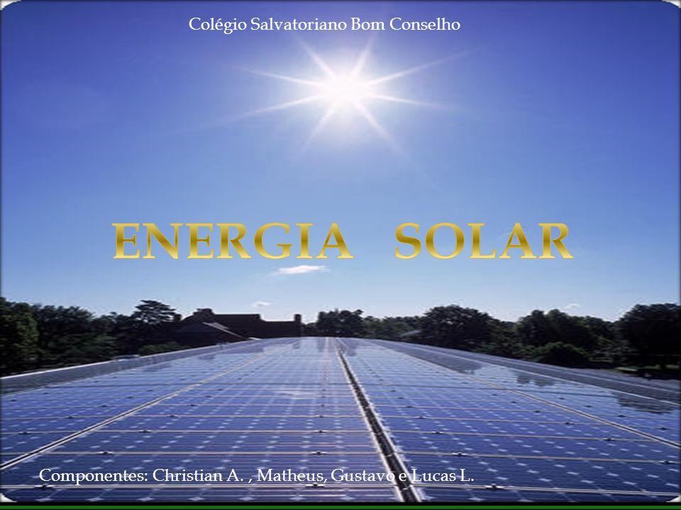 Componentes: Christian A., Matheus, Gustavo e Lucas L. Colégio Salvatoriano Bom Conselho