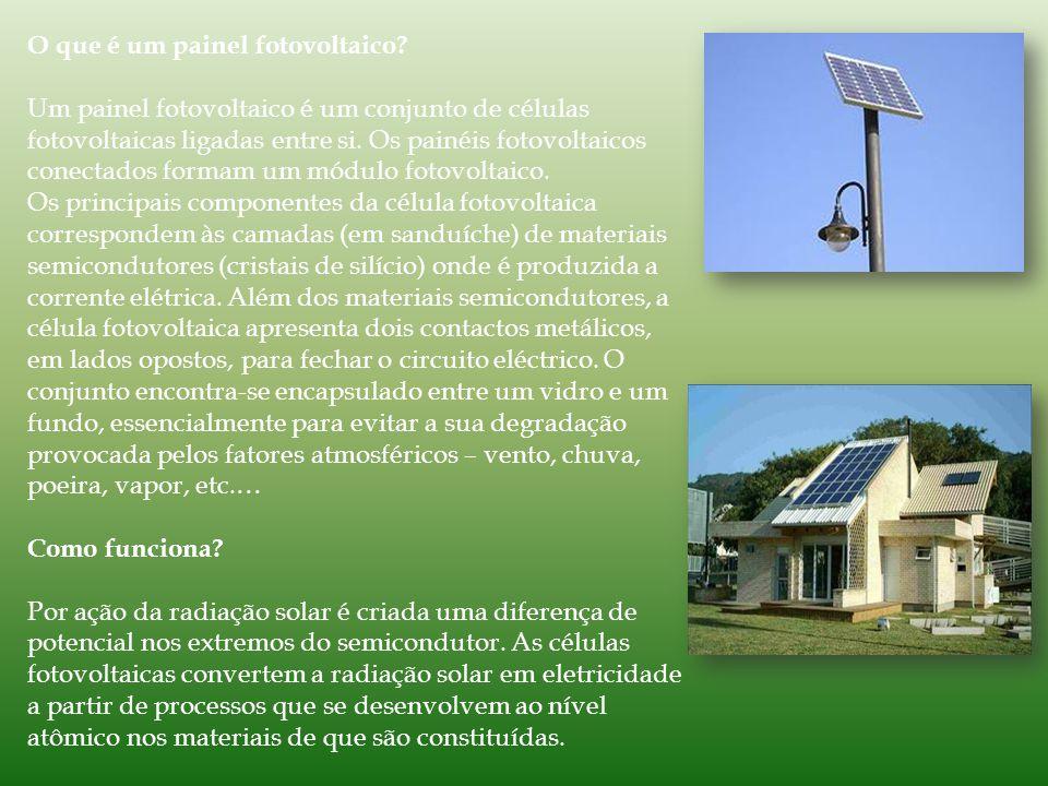 O que é um painel fotovoltaico.
