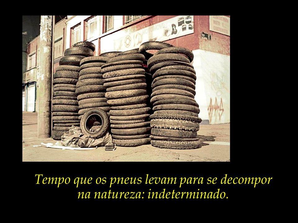 Quantidade de pneus produzidos no mundo anualmente: 900 milhões.