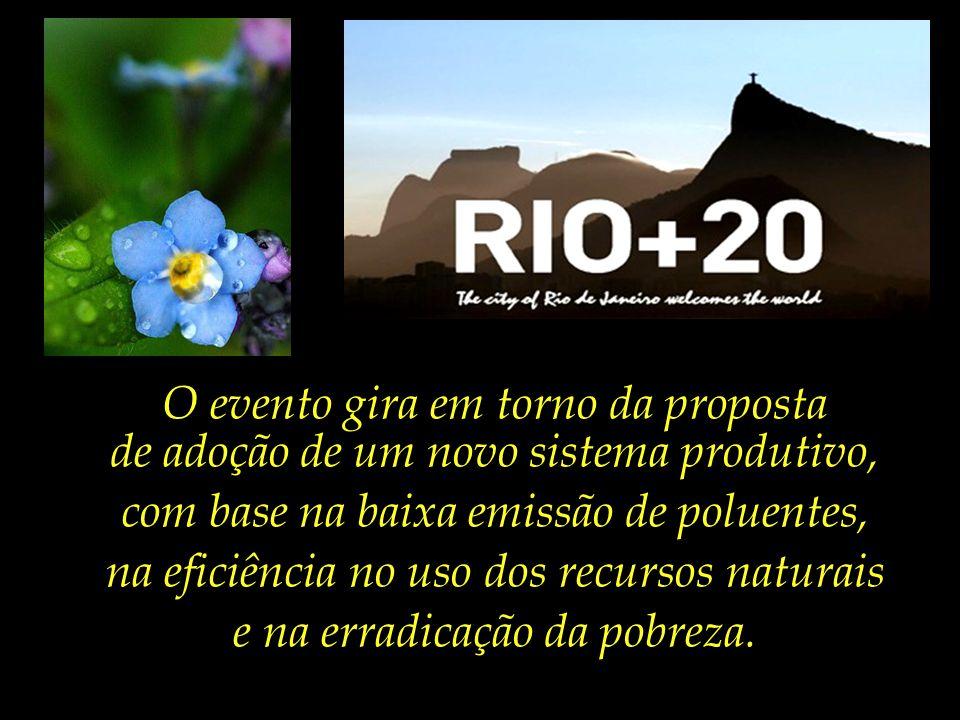"""Passados vinte anos, o Brasil sediará o encontro """"Rio+20"""", que tem por tema central a transição para a economia verde."""