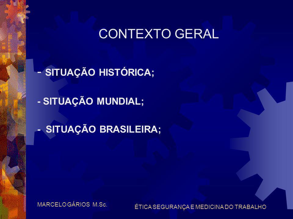 MARCELO GÁRIOS M.Sc. ÉTICA SEGURANÇA E MEDICINA DO TRABALHO PERÍCIAS TRABALHISTAS