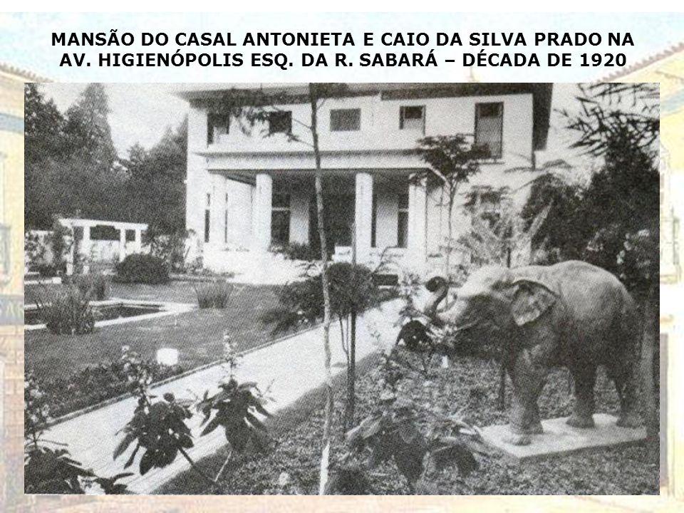 PLANTA DA RESIDÊNCIA DE Dª OLÍVIA G. PENTEADO