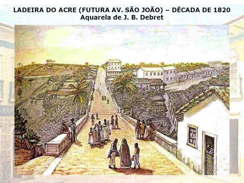 VISTA DA CIDADE DE SÃO PAULO – 1823 Aquarela do artista inglês Edmund Pink