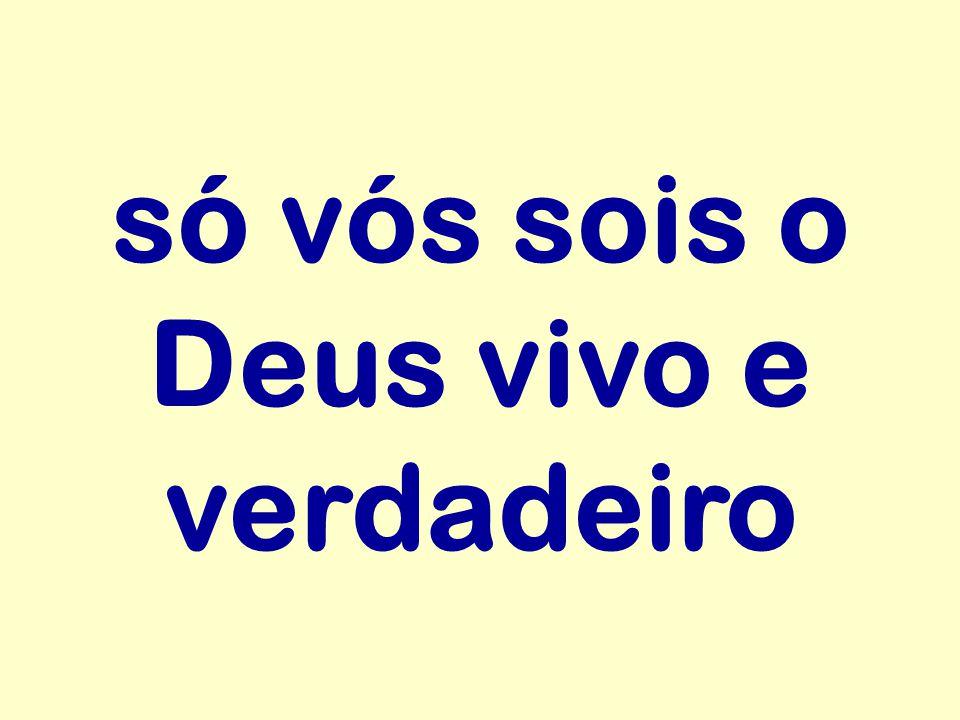 só vós sois o Deus vivo e verdadeiro