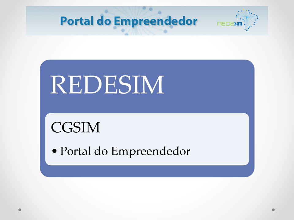 REDESIM CGSIM •Portal do Empreendedor