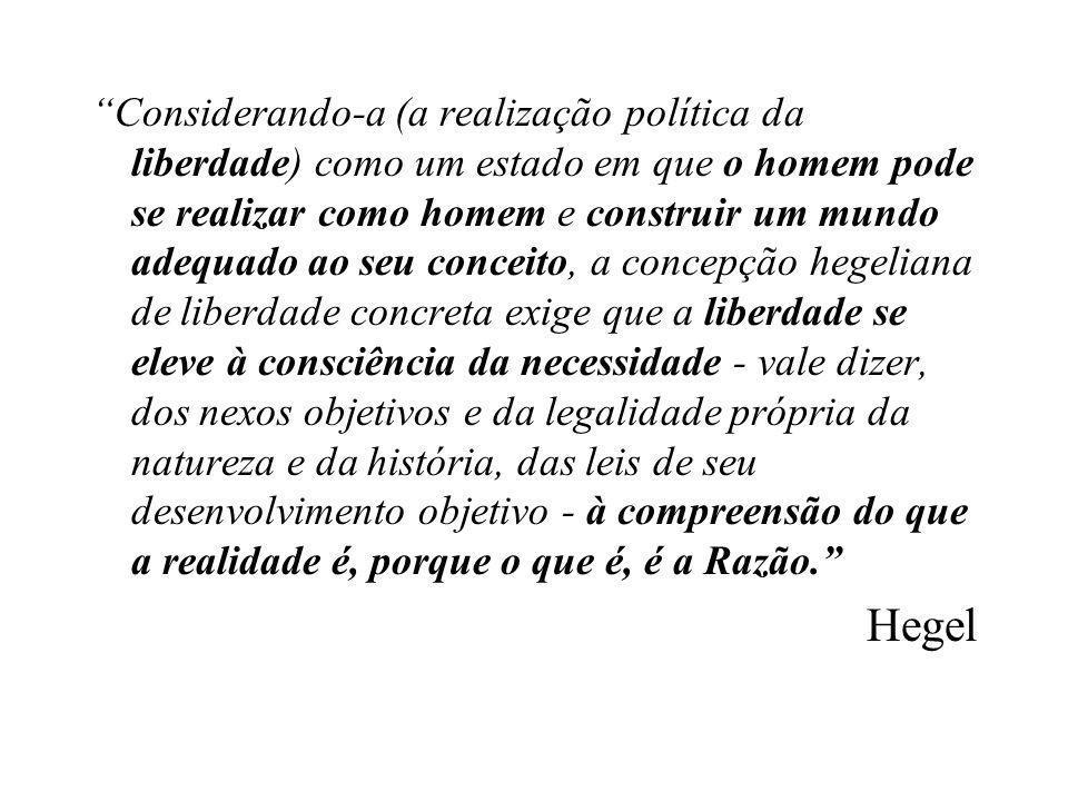 •Tocqueville (1805- 1859) - preocupação de que o desenvolvimento da igualdade viesse a inibir ou a destruir a liberdade.