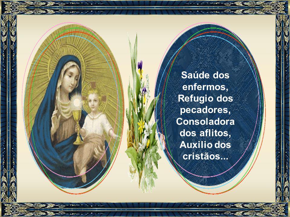 O titulo Mãe de Misericórdia expressou-se tradicionalmente através das diversas invocações da ladainha do Rosário: