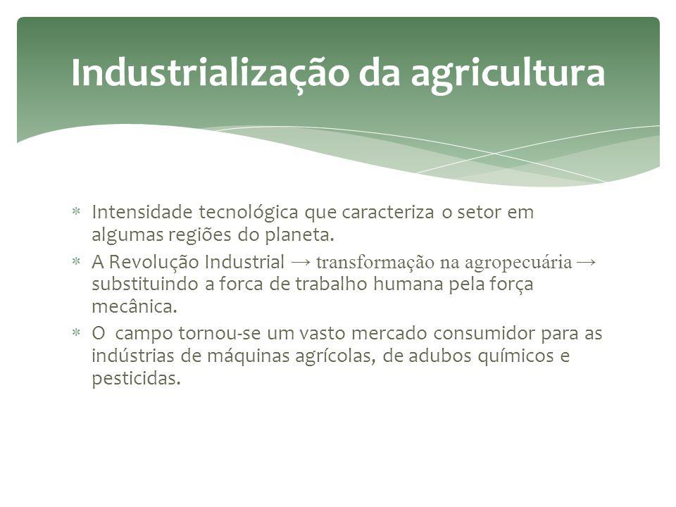  A produção agrícola é obtida em condições muito heterogêneas no mundo. As novas relações campo-cidade