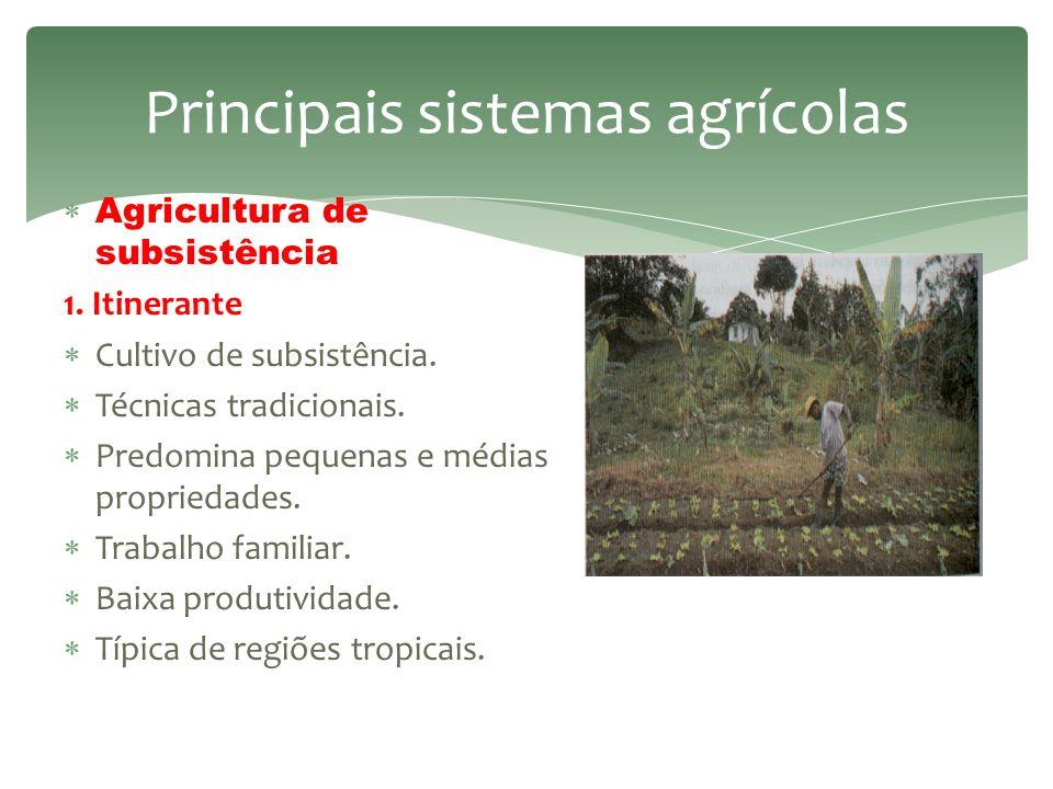 Tipo ou modelo de produção agropecuária em que se observa que cultivos ou criações são praticados, quais são as técnicas utilizadas, como é a relaçã