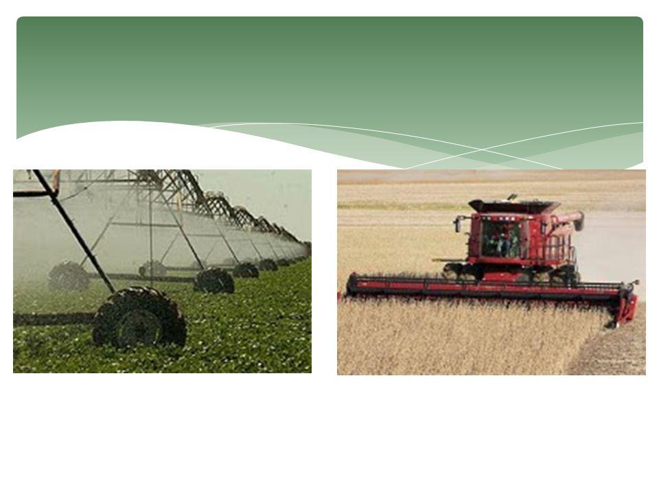 Agricultura comercial moderna  É típica de países desenvolvidos.  Também aparece em países subdesenvolvidos com lavouras como a de soja e laranja. 