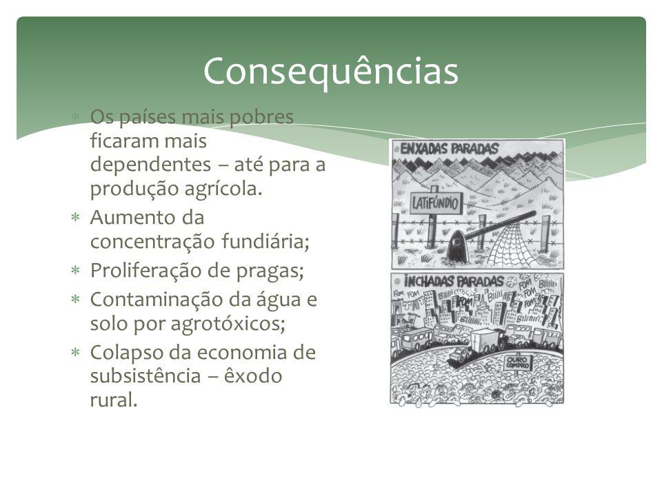 """ Após a II Guerra Mundial – concebida nos EUA.  """"Pacote tecnológico"""".  Objetivo: Combater a fome e a miséria nos países subdesenvolvidos.  Nova Re"""