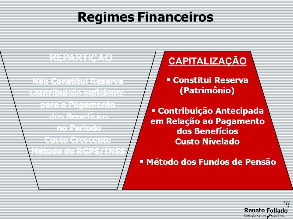 ...... RenatoFollado r Consultoria emPrevidência Regimes Financeiros Não Constitui Reserva Contribuição Suficiente para o Pagamento dos Benefícios no