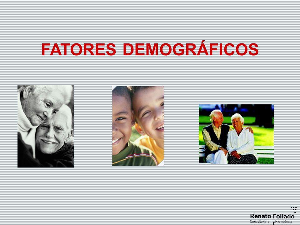 ...... RenatoFollado r Consultoria emPrevidência FATORES DEMOGRÁFICOS