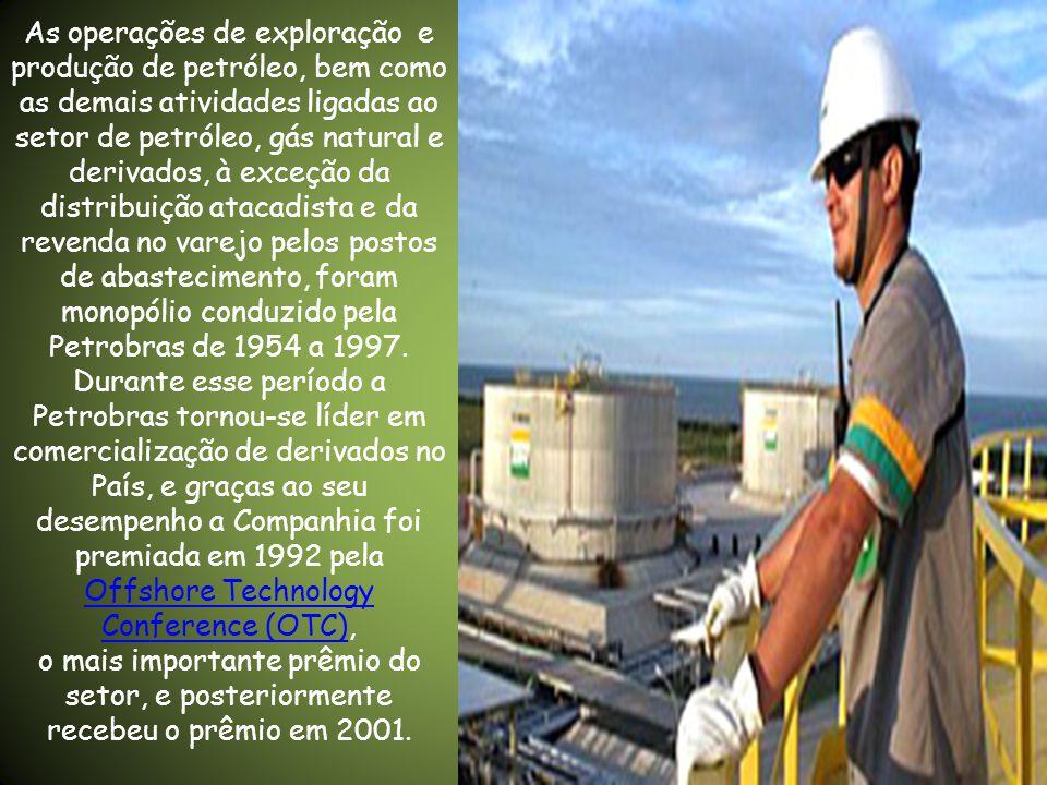 PETROBRAS • Em outubro de 1953, com a edição da Lei 2.004, a constituição da Petrobras foi autorizada com o objetivo de executar as atividades do seto