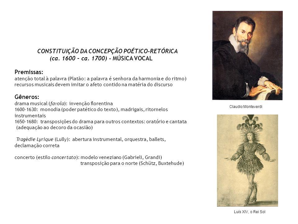 CONSTITUIÇÃO DA CONCEPÇÃO POÉTICO-RETÓRICA (ca.1600 – ca.