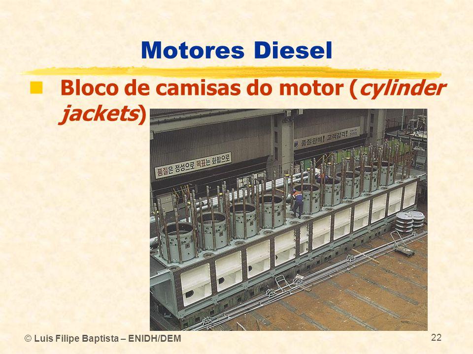 © Luis Filipe Baptista – ENIDH/DEM 22 Motores Diesel  Bloco de camisas do motor (cylinder jackets)
