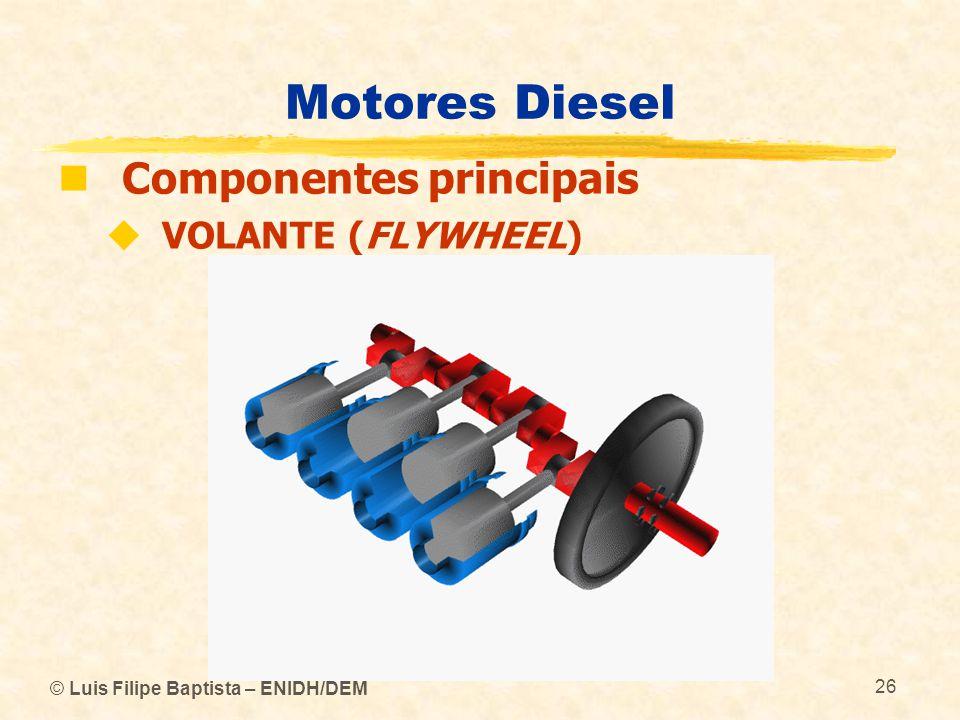 © Luis Filipe Baptista – ENIDH/DEM 26 Motores Diesel  Componentes principais  VOLANTE (FLYWHEEL)