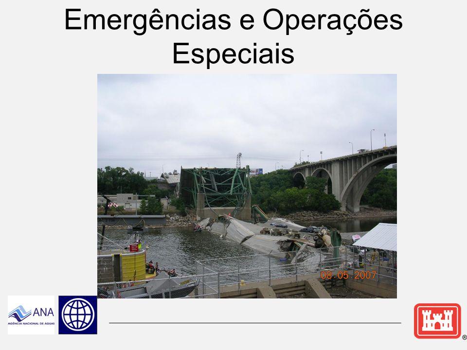 Abastecimento de Água  O Corps pode estabelecer convênios de Abastecimento de Água para efeito de usos municipais ou industriais.