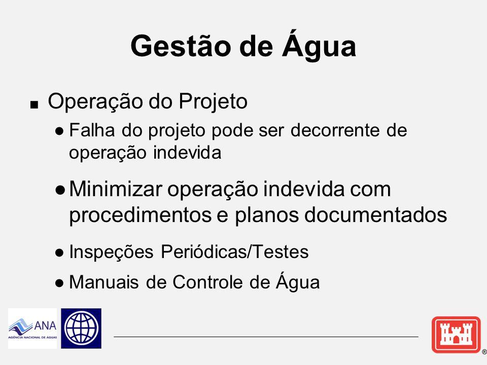 Políticas/Responsabilidades para Gestão de Água Guardiães dos Recursos Hídricos do nosso país  Gestão de Água toma decisões diariamente que afeta as pessoas, a economia e o meio ambiente.