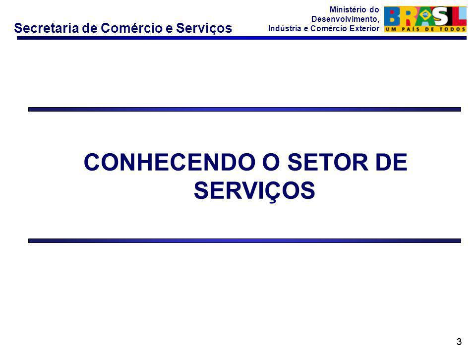 Secretaria de Comércio e Serviços Ministério do Desenvolvimento, Indústria e Comércio Exterior 33 CONHECENDO O SETOR DE SERVIÇOS