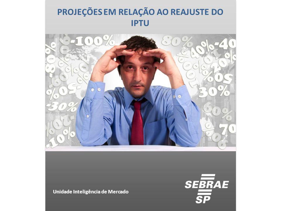 PESQUISA COM DONOS DE PEQUENOS NEGÓCIOS DO MUNICÍPIO DE SÃO PAULO E DADOS SECUNDÁRIOS Unidade Inteligência de Mercado IPTU