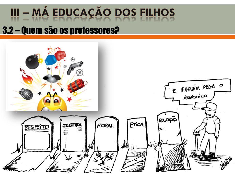 3.2 – Quem são os professores?