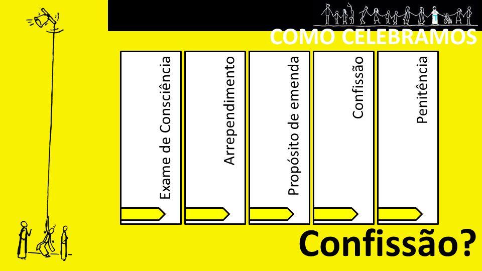 COMO CELEBRAMOS Confissão? Exame de ConsciênciaArrependimentoPropósito de emendaConfissãoPenitência