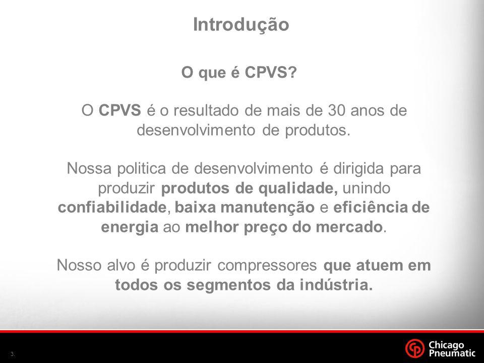 3. O CPVS é o resultado de mais de 30 anos de desenvolvimento de produtos. Nossa politica de desenvolvimento é dirigida para produzir produtos de qual