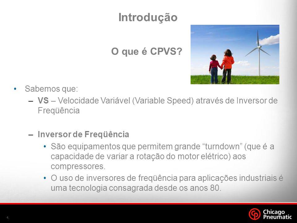 4. •Sabemos que: –VS – Velocidade Variável (Variable Speed) através de Inversor de Freqüência –Inversor de Freqüência •São equipamentos que permitem g