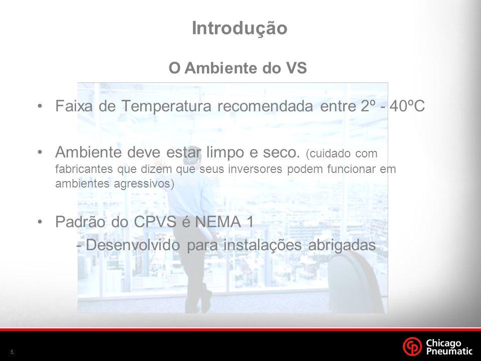 5. •Faixa de Temperatura recomendada entre 2º - 40ºC •Ambiente deve estar limpo e seco. (cuidado com fabricantes que dizem que seus inversores podem f