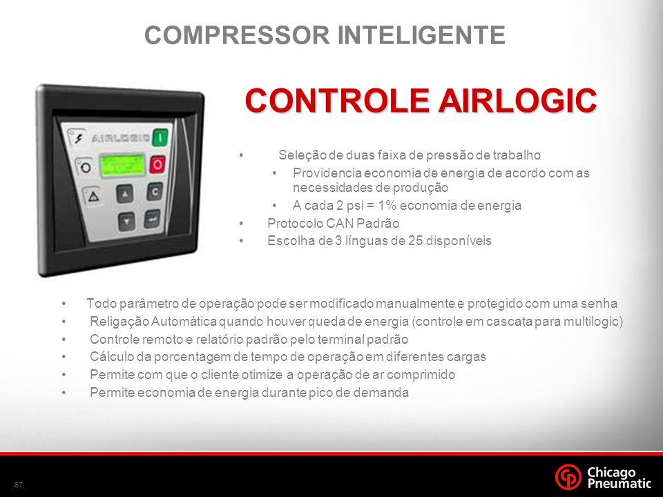 67. •Todo parâmetro de operação pode ser modificado manualmente e protegido com uma senha • Religação Automática quando houver queda de energia (contr
