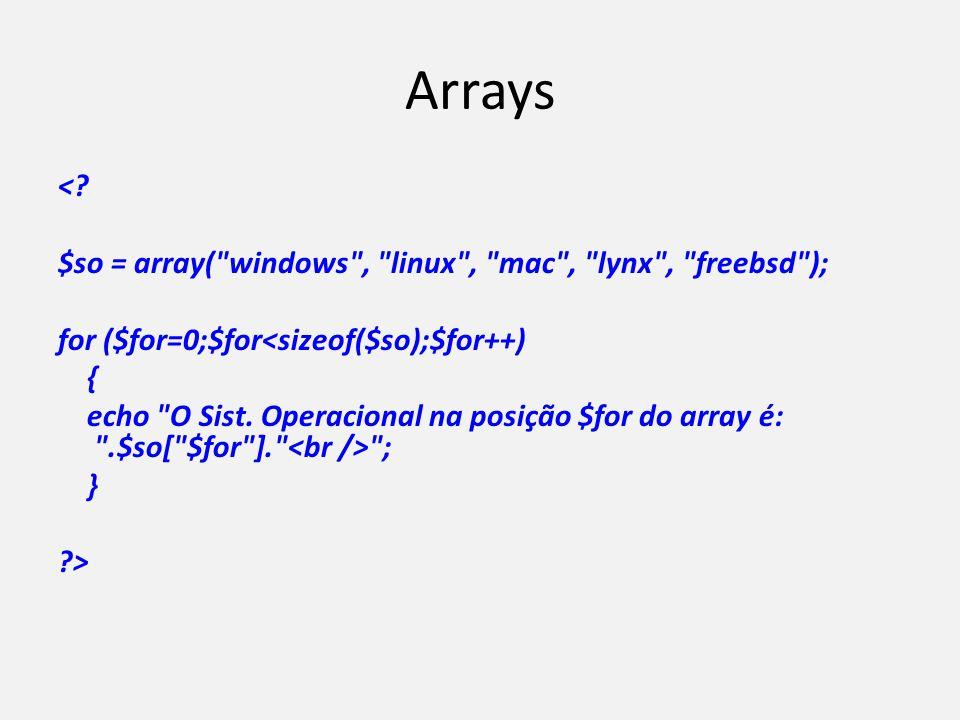 Arrays <? $so = array(