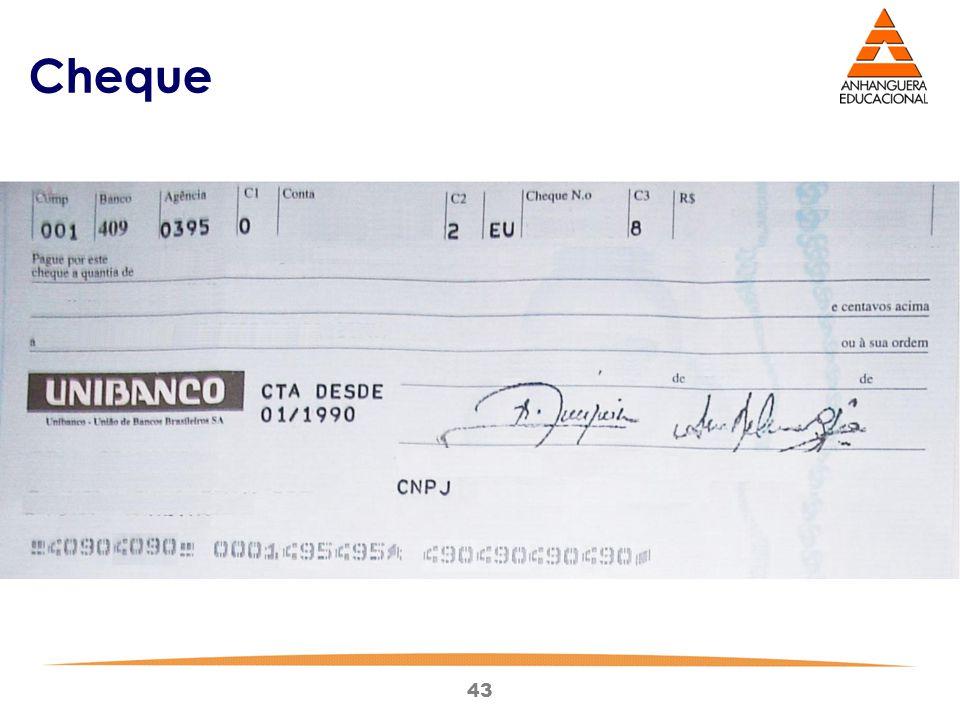 43 Cheque