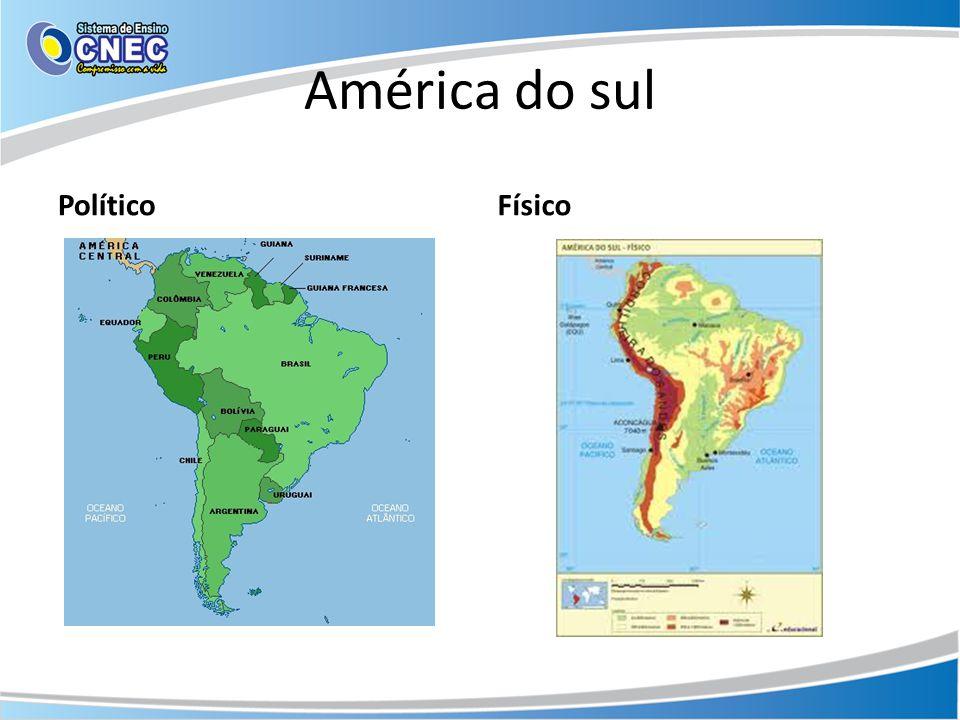 América Andina Características geográficas • A região é composta por seis países (Venezuela / Colômbia / Equador / Peru / Chile / Bolívia).