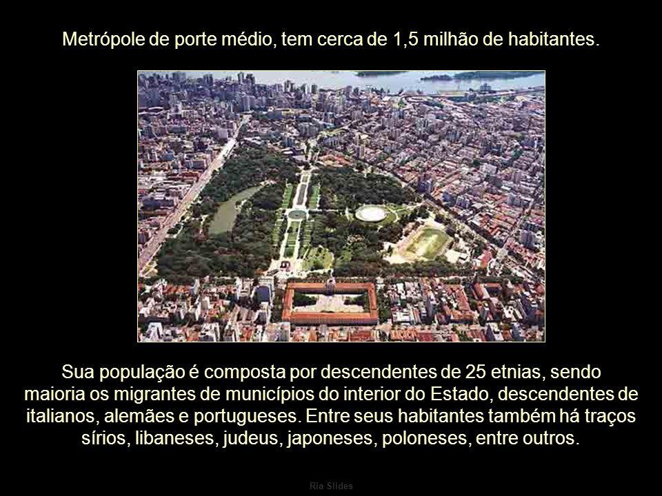 Ria Slides Metrópole de porte médio, tem cerca de 1,5 milhão de habitantes.