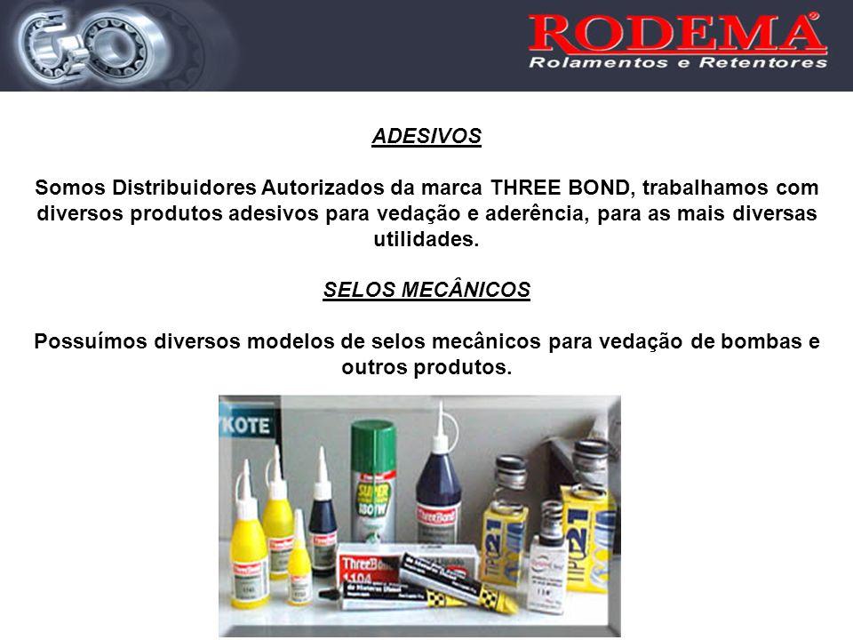 ADESIVOS Somos Distribuidores Autorizados da marca THREE BOND, trabalhamos com diversos produtos adesivos para vedação e aderência, para as mais diver